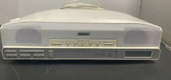 Sony Icf Cd523 Under Cabinet Counter Clock Radio Am/fm Cd Player Tested Works