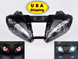 Motor Assembly Headlight Red Demon Angel Eye Set Fit For Yamaha Yzf R6 2006 2007