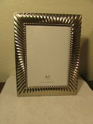 Pottery Barn Brand 5x7 Nickel Plated Solei Metal Frame Open Box