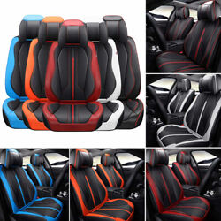 Universal Car Interior 5 Sits Seat Covers Cushions Comfort Pu Leather Protector