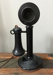 Vintage Antique Authentic Candlestick Phone In Very Good Condition