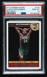 2013-14 Nba Hoops Red Back Giannis Antetokounmpo 275 Psa 10 Rookie