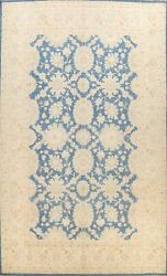 Vegetable Dye Floral Blue Oushak Ziegler Oriental Area Rug Hand-knotted 10and039x14and039
