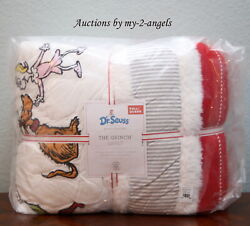 Pottery Barn Kids Dr. Seuss Full/queen F/q Quilt Christmas Holiday