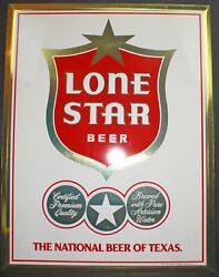 Lone Star Beer Sign Tin Over Cardboard Sign