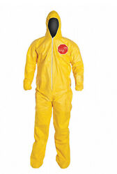 Case Of 12 Dupont Tychem Tyvek Qc122syllg001200 Coverall Hazmat Suit Large