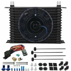 15 Row 10an Engine Trans-mission Cooler Fan 3/8 Npt 180'f Thermostat Switch Kit