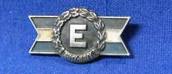 Wwii Sterling Army-navy E For Production Award Pin By Jostens Rare Blue/white