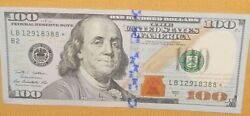1 Ultra Rare - 2009 A 100 Star Note - Lb12918388 - Very Fine Or Better