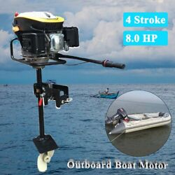 Upgraded 4 Stroke 8hp Outboard Engine Boat Engine Motor With Air Cooling System