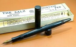 Antique The Salz Combo Of Hard Rubber Fp+pencil W/box, Nos, New York, Usa Ar4160