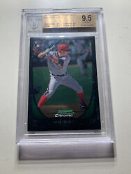 2011 Mike Trout Bowman Chrome Draft Rookie Card Rc 101 Rookie Bgs 9.5