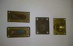 1930s Vintage Classic Yacht Brass Cabinet Hardware Pulls