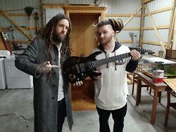 Brian Head Welch With Love And Death Autographed Guitar. Signed By The Band
