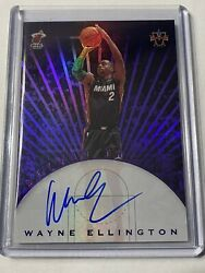 2017-18 Panini Vanguard Wayne Ellington On Card Auto Heat Purple 23/25