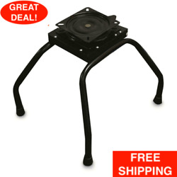 Portable Boat Seat Stand With Swivel Seat Clamp Durable Powder Coated Steel Set