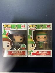 Funko Pop Movies Buddy 638 And Papa Elf 486 New In Box