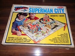 Rare 1966 Superman City Playset By Remco 100 Complete