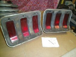 1967 1968 Ford Mustang 68 67 Tail Lights Taillights Pair Of Lens Housing Lenses