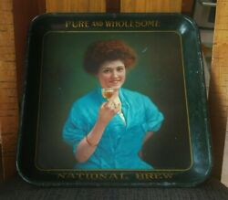Ultra Rare Pre-pro National Brew Beer Metal Tray National Brewing Co Steelton Pa