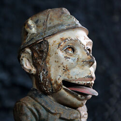 """American Cast Iron Mechanical Bank """"paddy And The Pig"""" By Jande Stevens"""