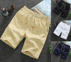 Men Casual Sport Shorts Chino Summer Beach Joggers Pants Twill Cotton Slim Fit $14.99