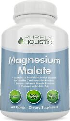 Magnesium Malate 400mg 270 Vegetarian Tablets Chelated Supplement And Malic Acid