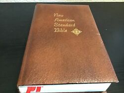 1977 Mccabe Nasb New American Standard Bible Side Reference Genuine Leather Usa