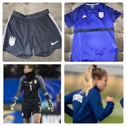 Nike Uswnt 2016 -2021 Player Issue Soccer Gk Game Shorts And Training Jersey S
