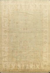 Vegetable Dye Authentic Oushak Turkish Area Rug Hand-knotted Dining Room 9and039x12and039