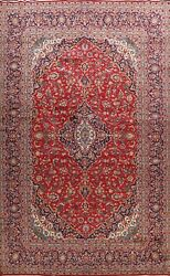 Vintage Floral Ardakan Hand-knotted Area Rug Wool Oriental Large Carpet 10'x14'