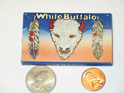 Vintage Collector Cigarette Rolling Paper White Buffalo 60x70mm Canada 32 Leaves