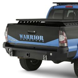 For Toyota Tacoma 05-15 Warrior 4560 Full Width Rear Hd Bumper W Hitch Receiver