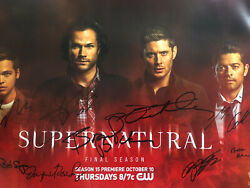 Sdcc 2019 Comic-con Wb Supernatural Signed Autographed Poster