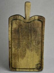 Rustic Antique French Cutting Board With Jus Basin 17 X 8¾