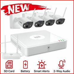 Rechargeable Battery Wire Free Surveillance Camera Power Security System Cameras