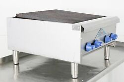 Used Castle Er324 24 Countertop Natural Gas Charbroiler   596364