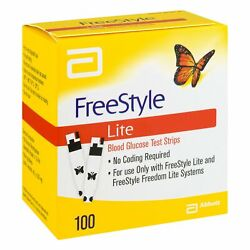Freestyle Lite Blood Glucose Test Strips   100 Ct  pack Of 10