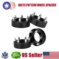 4pcs/set Car 2in Thick 6x5.5 Bolts Pattern Wheel Spacers For Chevy Silverado1500
