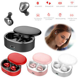Tws Wireless Earphones Bluetooth 5.0 Stereo Headsets Earbuds Noise Reduction