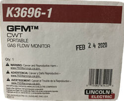 Lincoln Electric K3696-1 Cwt Gfm Gas Flow Monitor Portable. Free Shipping