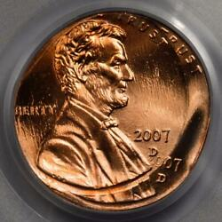 2007 D Pcgs Ms66rd Double Struck Double Date Lincoln Cent Mint Error Very Rare