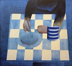 Charles Blackman The Repast Signed Limited Edition Print 100cm X 110cm