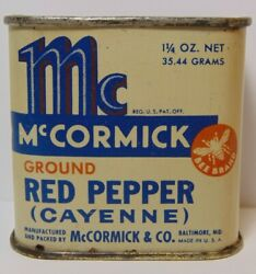 Old Vintage 1942 Mccormick Bee Brand Spice Tin Litho Graphic Baltimore Maryland