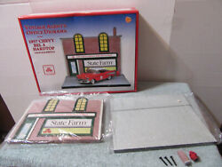State Farm Vintage Agent's Office Diorama Crown Premiums 1957 Chevy Bel Air 124