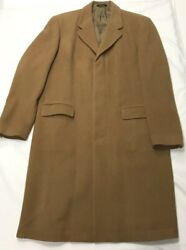 Vintage Dkny Wool And Cashmere Blend Overcoat / Trench Coat Men's 42l