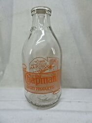 Chapmanand039s Dairy Milk Bottle Half Gallon Sour Cream Lady Cooking Nice
