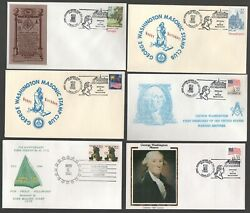 Amazing Lot Of 22 1988 Masonic Event Covers Good Cachets Scarce Covers G4209