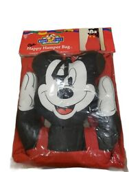 Vintage Mickey Mouse Happy Hamper Bag Laundry Toy Bag New Old Stock