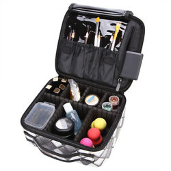 Makeup Bags Travel Cosmetic Cases Make up Organizer Toiletry Bags with Dividers $16.99